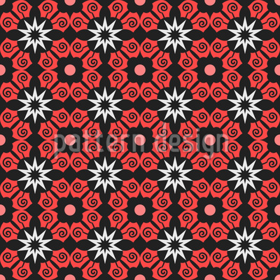 Orderly Flowered Vector Design