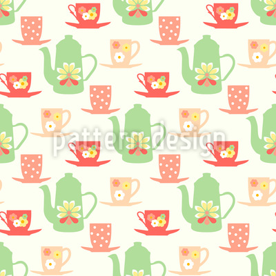 Sweet Sixties Tea Time Repeating Pattern