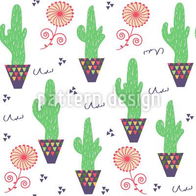 Kaktus Topf Rapportiertes Design