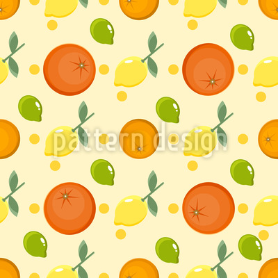 Lemons And Oranges Pattern Design