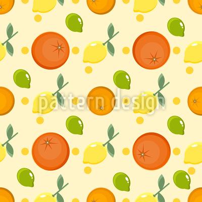 Zitronen und Orangen Muster Design