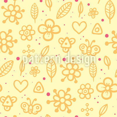 Childhood Summerdays Seamless Vector Pattern