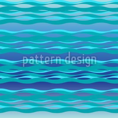 Ruhige Meereswellen Musterdesign
