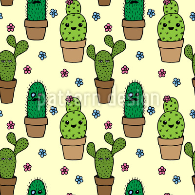 Cactus Characters Vector Ornament