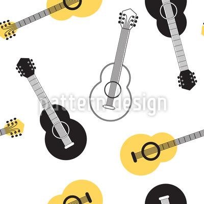 Acoustic Guitar Vector Ornament