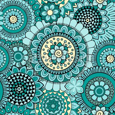 Blumen Hautnah Vektor Muster