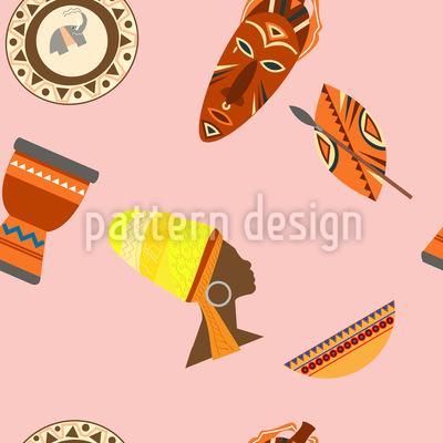 Afrikanischer Stil Rapportiertes Design