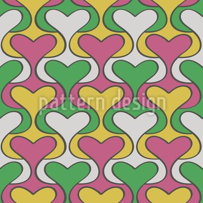 Herz Damast Muster Design