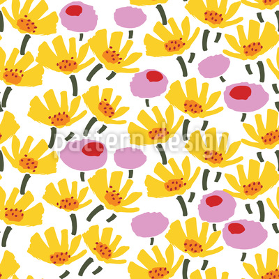 Grafische Blüten Rapport