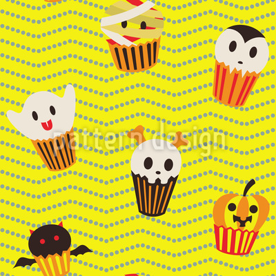 Halloween Cupcakes Vector Ornament