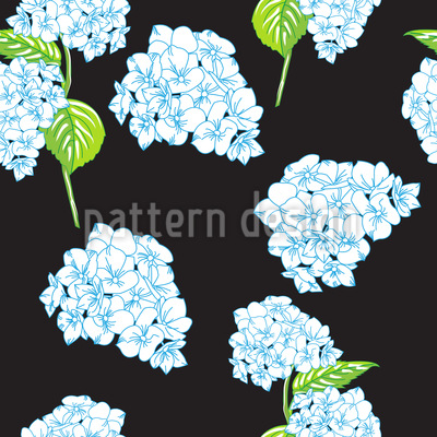 Blooming Hydrangeas Seamless Vector Pattern