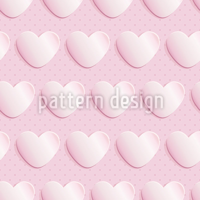 Paper Hearts Seamless Vector Pattern