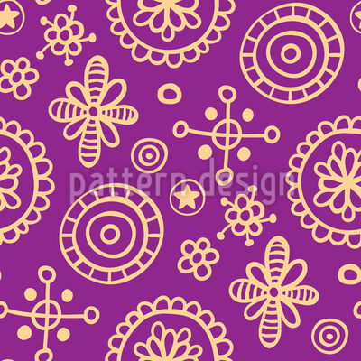 Happy Cutie Vector Pattern