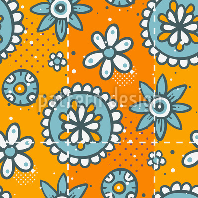 Doodle Floret Repeating Pattern