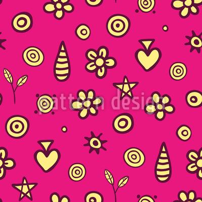Blühende Doodles Muster Design