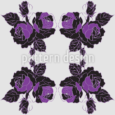 Roses Bunch Repeating Pattern