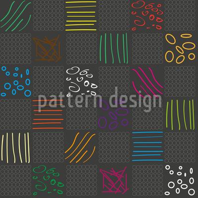 Doodle Karo Designmuster