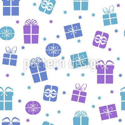 All Shapes Of Gift Boxes Repeating Pattern