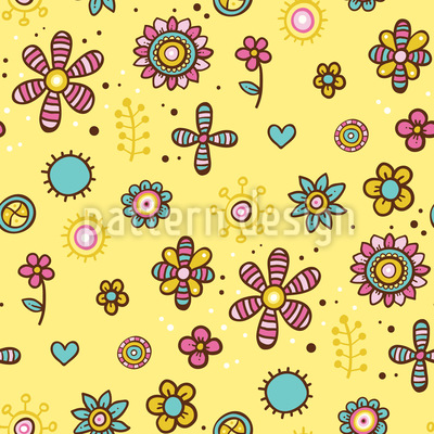 Mandala flowers Design Pattern