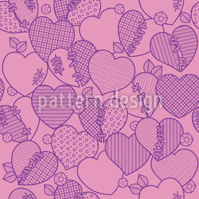 Heart-Breaker Seamless Vector Pattern