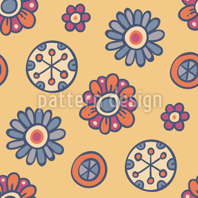 Comic Floret Repeat Pattern