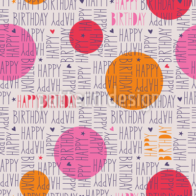 Happy Wishes Seamless Vector Pattern
