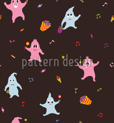 Ghosts Love Sweets Repeat Pattern