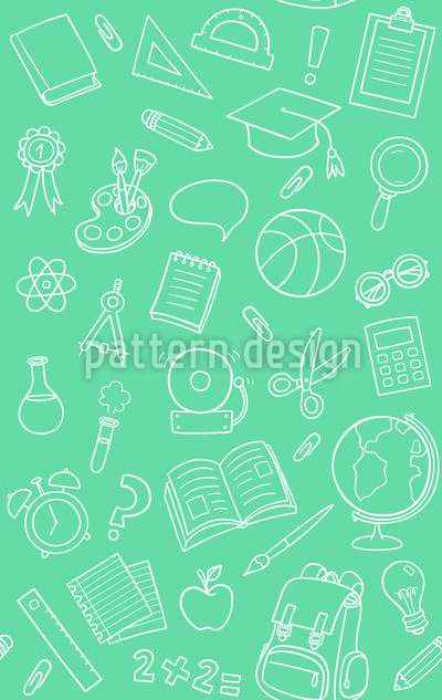 School Objects Seamless Vector Pattern