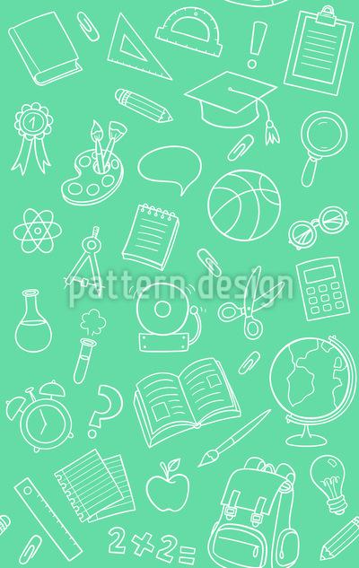 Schulsachen Nahtloses Vektor Muster