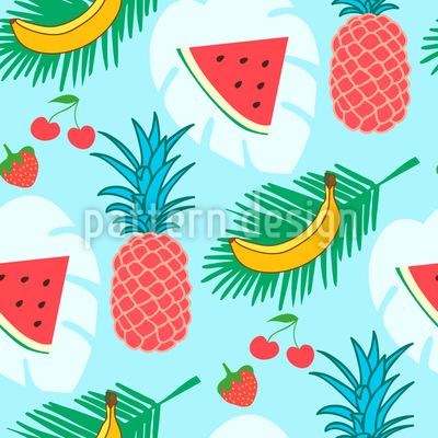 Gesunde Früchte Muster Design
