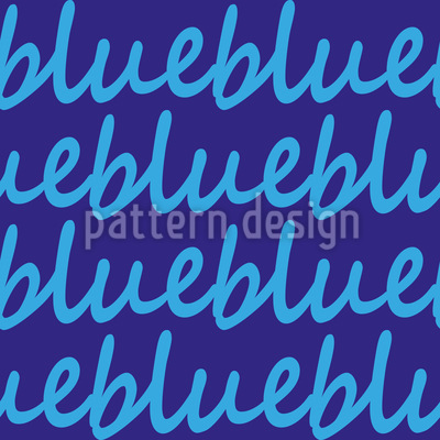 Blue Calms Down Seamless Pattern