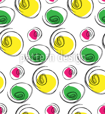 Not just ordinary circles Vector Pattern
