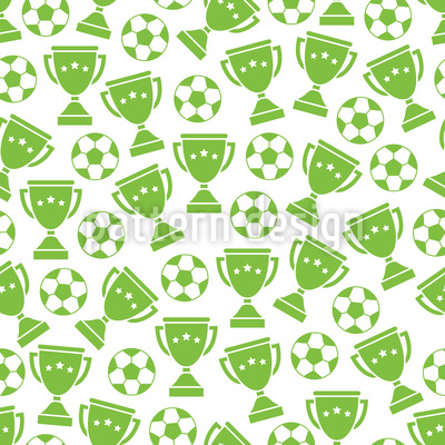Football and Cups  Repeating Pattern
