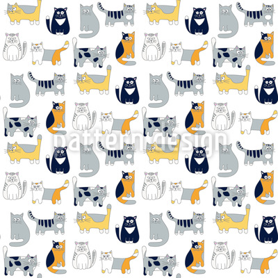 Katzenfreunde Muster Design