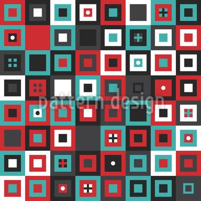 Addiere Ein Paar Quadrate Rapportiertes Design