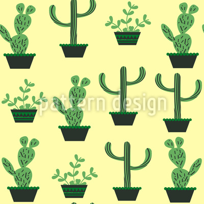 My Cacti Collection Repeat Pattern