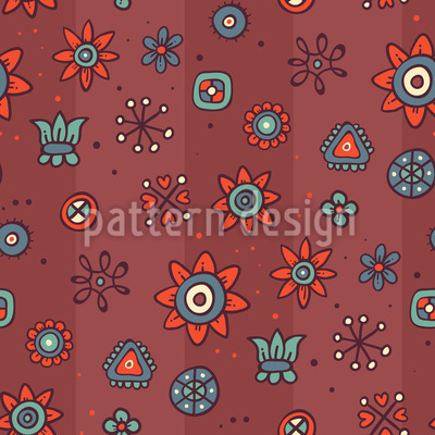 Cute Flowers  Pattern Design