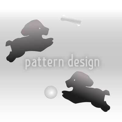 Puppy Brings It Seamless Vector Pattern