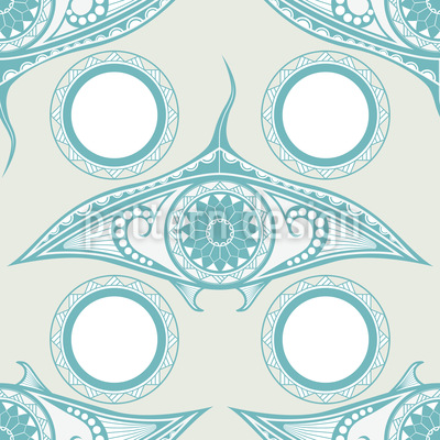 Auge Des Ozeans Rapportiertes Design