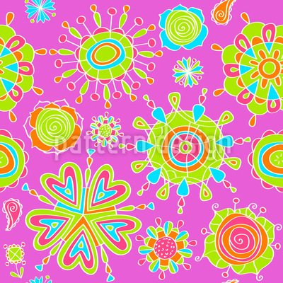 Stylized Flowers Pattern Design