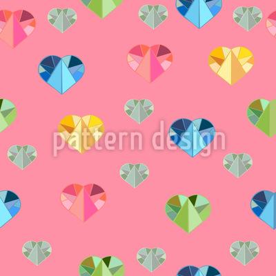 Kristallene Liebe Nahtloses Vektor Muster