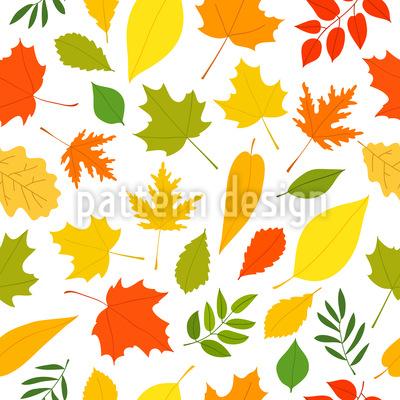 Leaf Fall Vector Pattern
