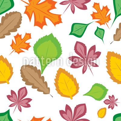 Schönheit Der Blätter Rapportiertes Design