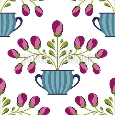 Flower Pot Pattern Design