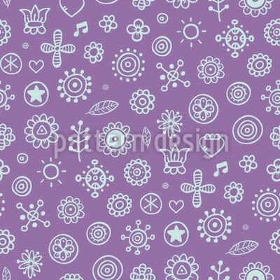 Konturierte Blumen Vektor Design