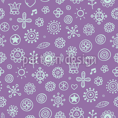 Outline Flowers Vector Design