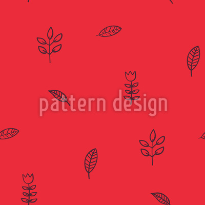 Schöne Blätter Nahtloses Muster