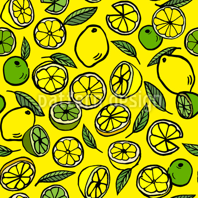 Lemon and Lime Pattern Design