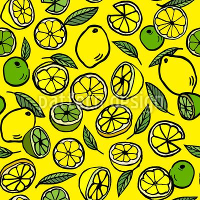 Zitrone und Limette Muster Design