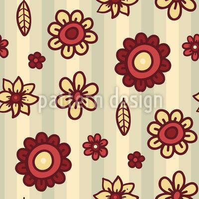 Streifen und Blumen Vektor Muster
